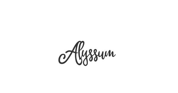 Alyssum font thumbnail