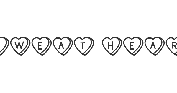 Sweat Hearts BV font thumb