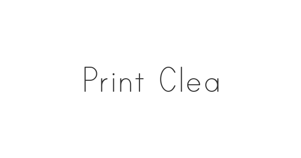Print Clearly font thumb
