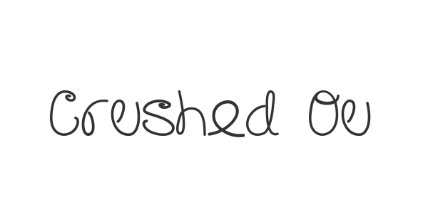 Crushed Out Girl font thumb