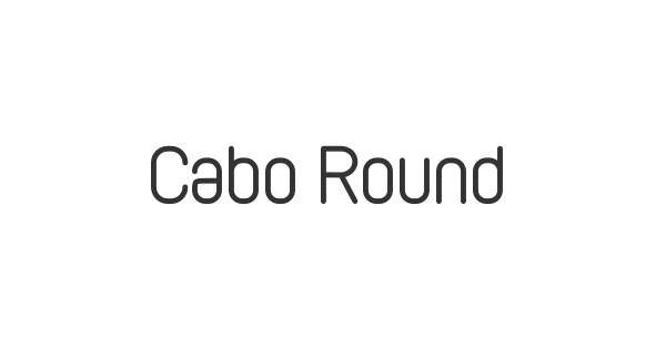 Cabo Rounded font thumb