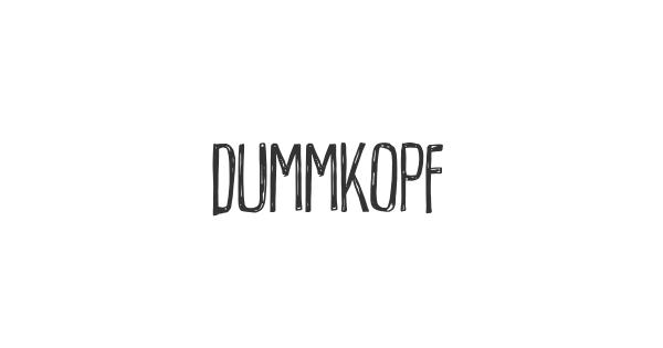 Dummkopf font thumb