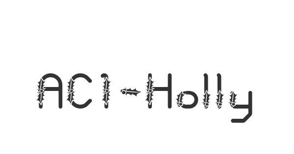 AC1-Holly font thumb