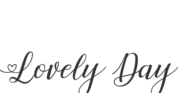 Lovely Day font thumb