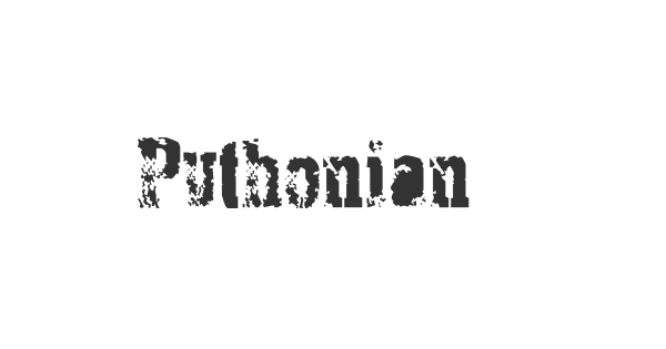 Pythonian Deluxe font thumb
