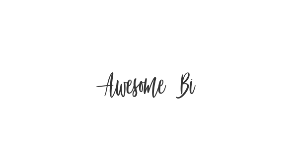 Awesome Birds font thumb