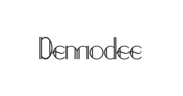 Demodee font thumb