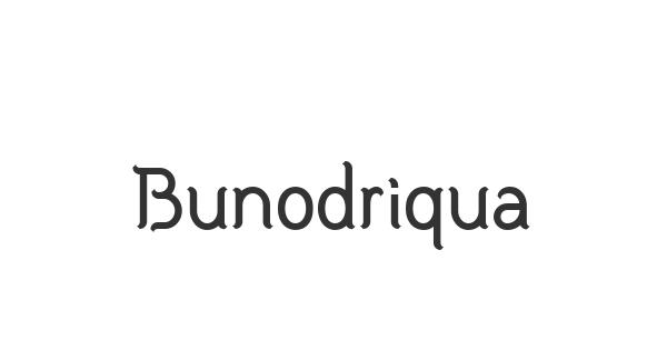 Bunodriqua font thumb
