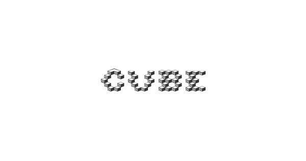Cube font thumb