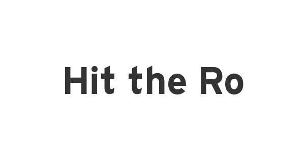 Hit the Road font thumb