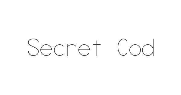 Secret Code font thumb