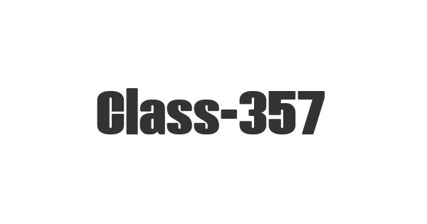 Class-357 font thumbnail