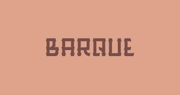 Barque font thumbnail