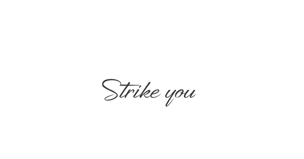 Strike your Path font thumb