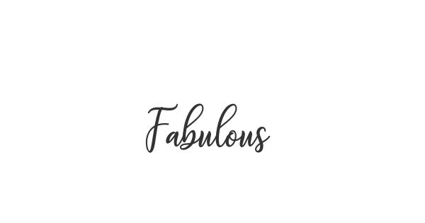 Fabulous font thumbnail