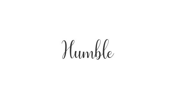 Humble font thumbnail