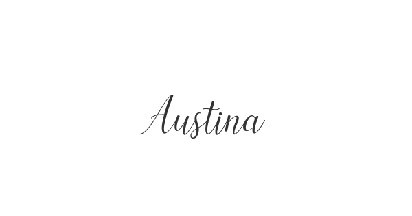 Austina font thumbnail