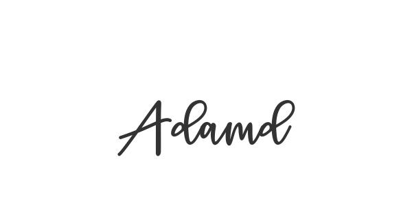 Adamd font thumb