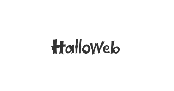 Halloweb font thumb