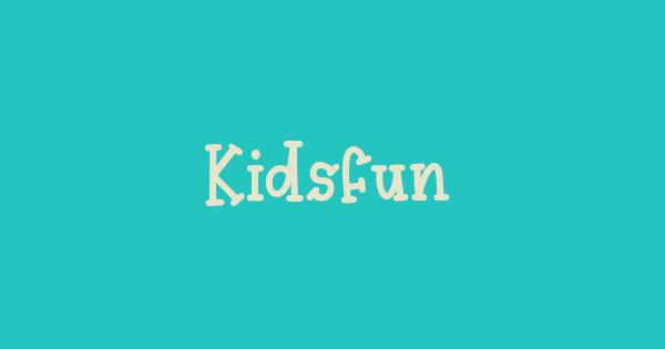 Kidsfun font thumb