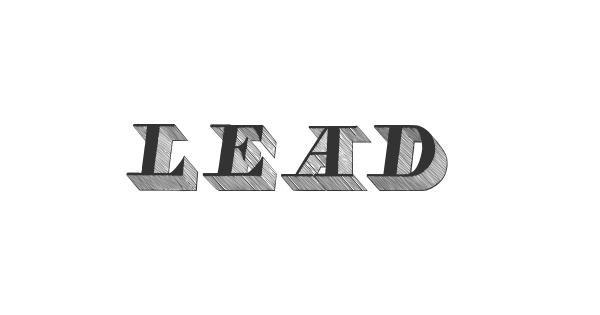LEAD font thumb