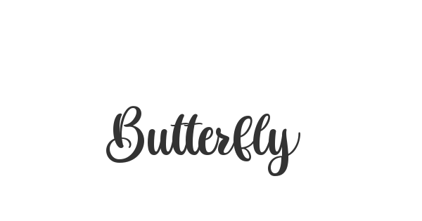 Butterfly font thumbnail