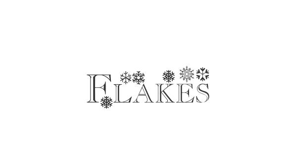 Flakes font thumb