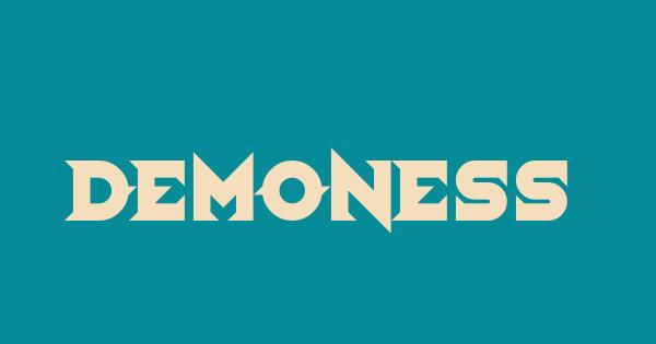 Demoness font thumb