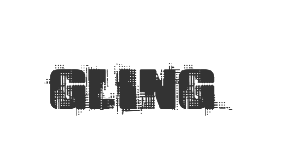 Gling font thumb