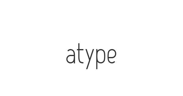 Atype font thumb