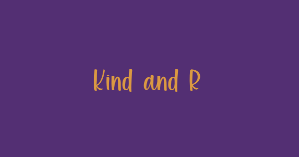 Kind and Rich font thumb