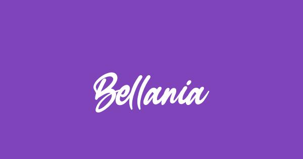 Bellania font thumb