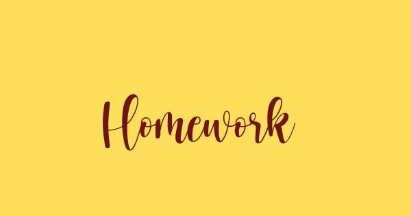 Homework font thumb