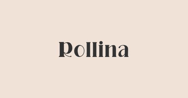Rollina font thumbnail