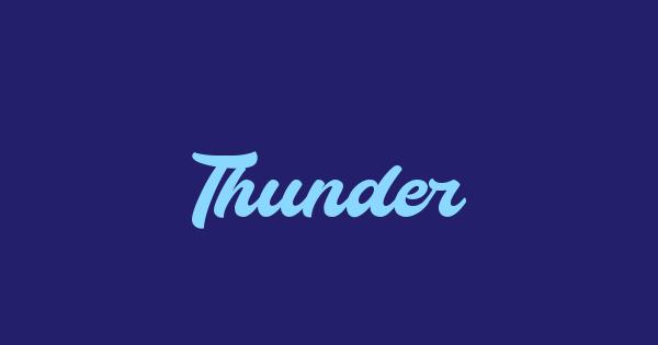 Thunder font thumb