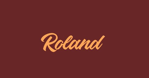 Roland font thumb