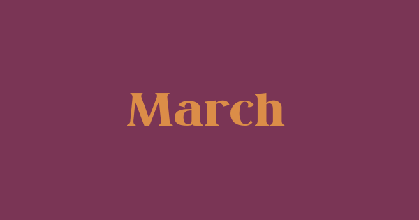 March font thumb