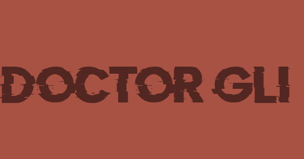 Doctor Glitch font thumbnail