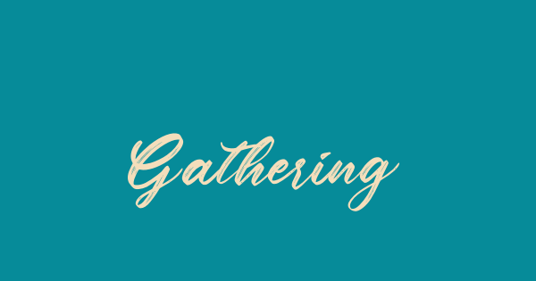 Gathering font thumbnail