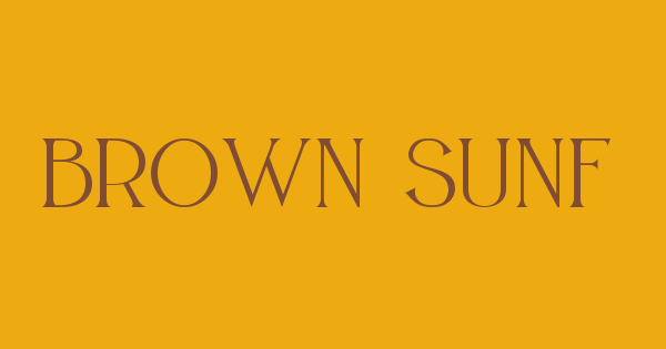 Brown Sunflower Serif font thumbnail