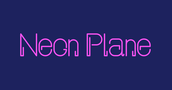 Neon Planet Display font thumb