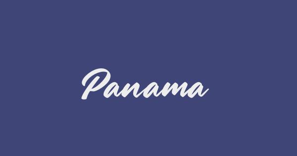 Panama font thumb