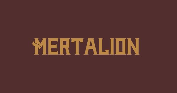 Mertalion font thumb