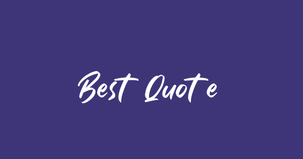 Best Quotes font thumb
