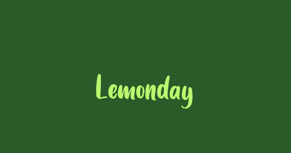 Lemonday font thumb