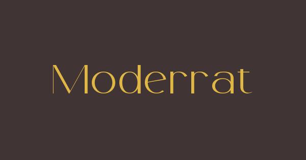 Moderrat font thumb
