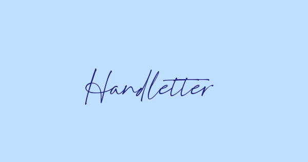 Handletters font thumb