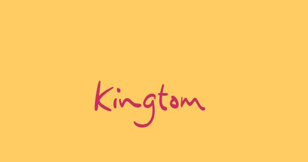 Kingtom font thumbnail