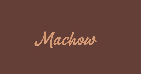 Machow font thumbnail