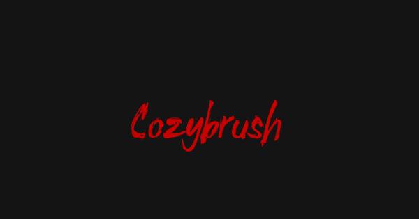 Cozybrush font thumbnail